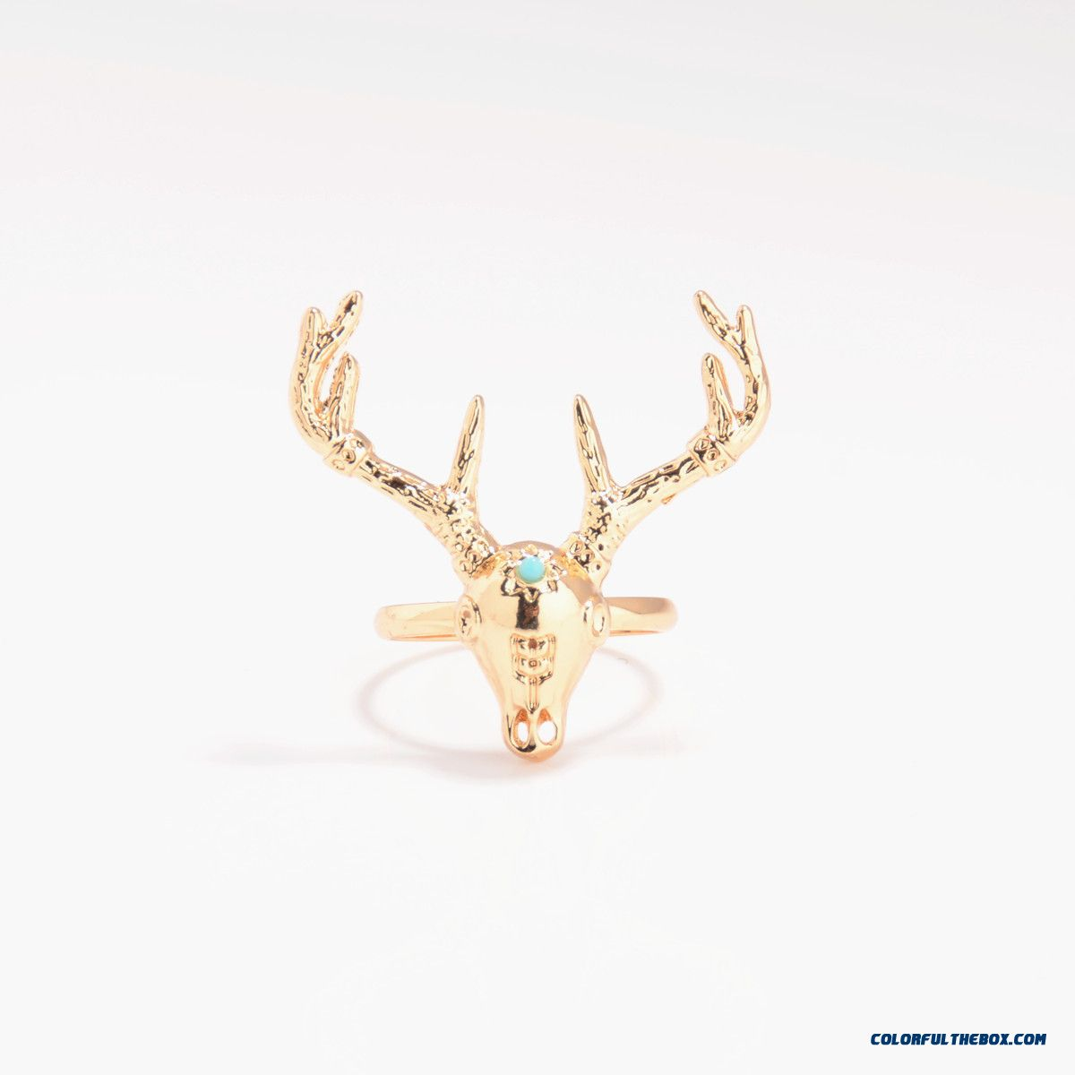 Ethnic Style Metal Heavy Industry Exaggeration Deer Head Ring Jewelry Free Shipping For Women - detail images