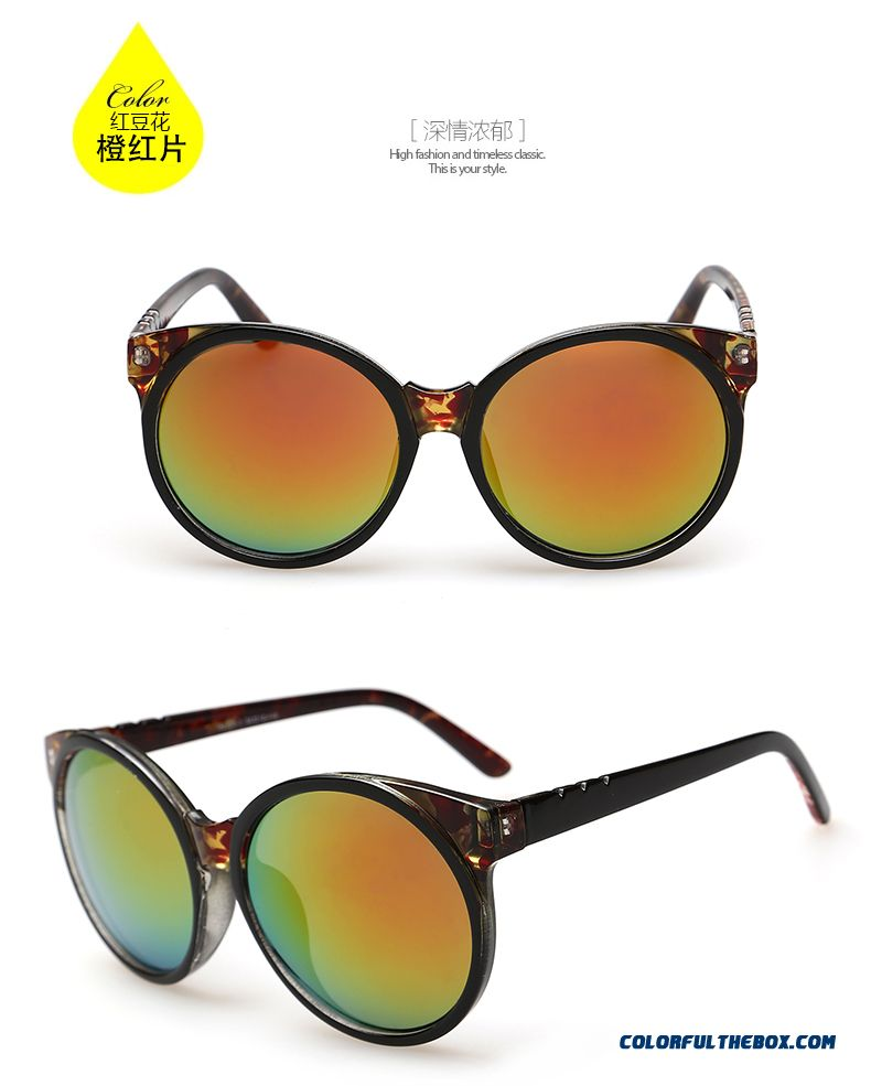 European And American Vintage Dark Glasses Sunglasses Women Genuine Accessories - detail images
