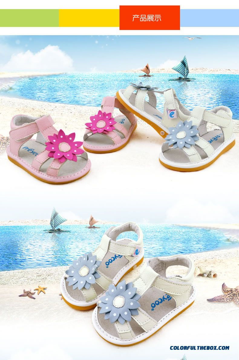 Fashion All-match Beautiful Baby Sandasl Shoes 1-2-3 Years Old Free Shipping Practical Design For Girls Kids - detail images