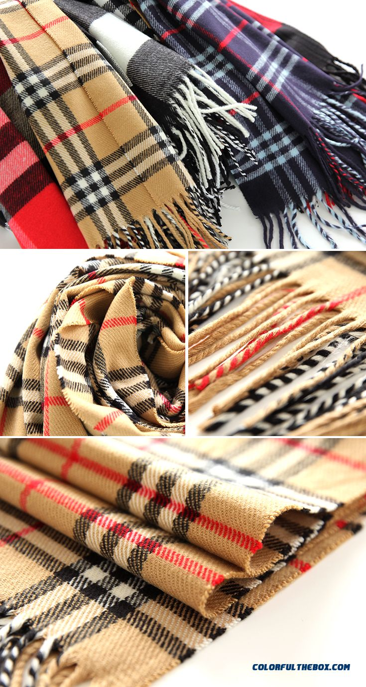 Fashion All-match Kids Scarves 2016 New Genuine Brand Designed For Boys Plaid Neck Scarves Shawl Winter Models - detail images