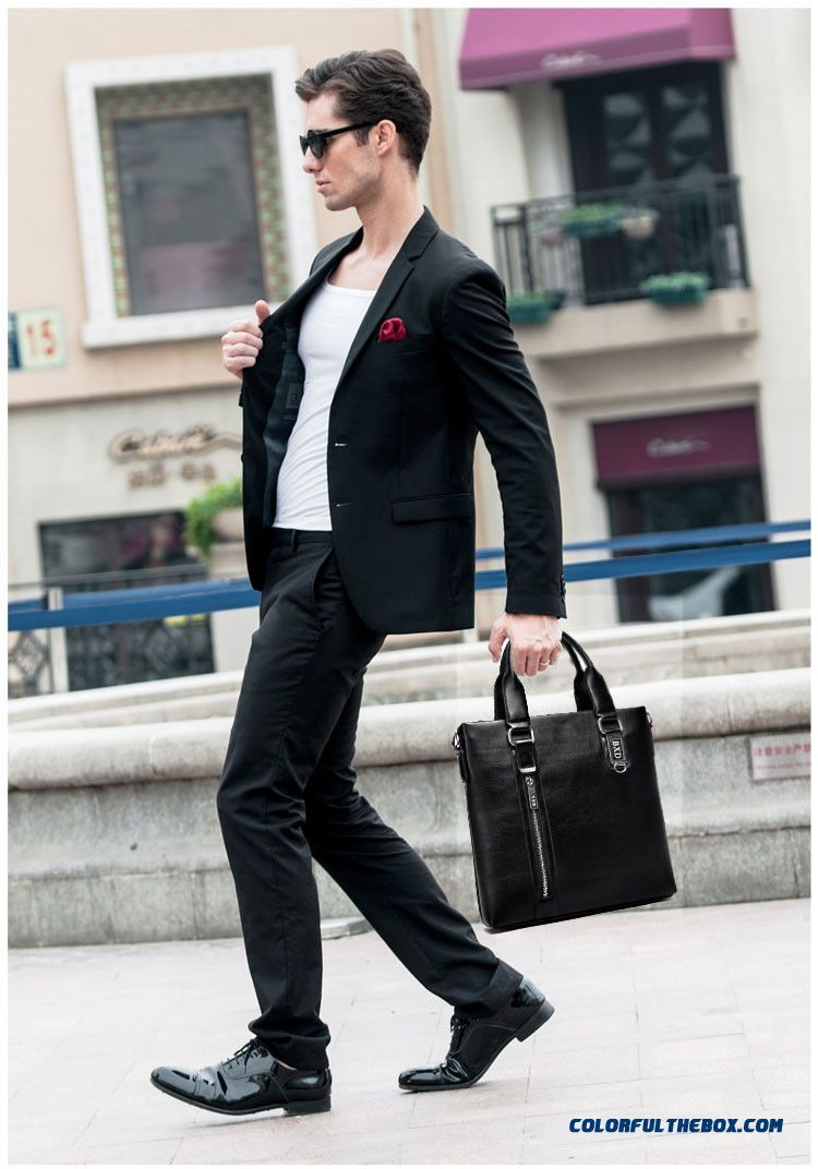 Fashion Design Two Style Of Men Horizontal And Vertical Briefcase Incidental Small Wallet - detail images