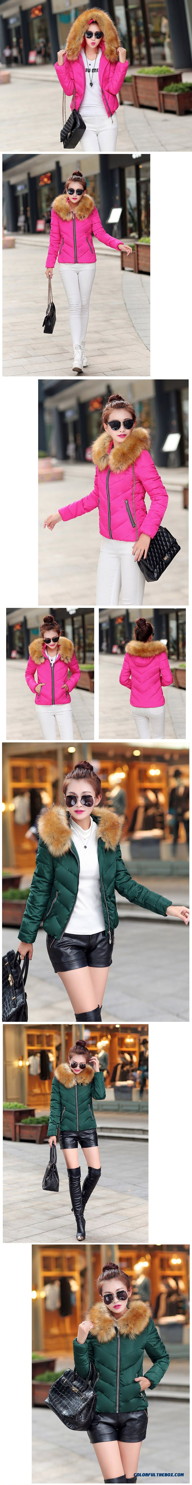 Fashion Female Coats Ovo Collar Large Short Blue Green Promotion Sexy - detail images