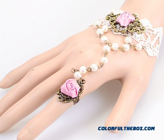 Fashion Sexy Lace Re-gu Gete Mysterious Lace Bracelet Ring Special Jewelry For Woemn - detail images
