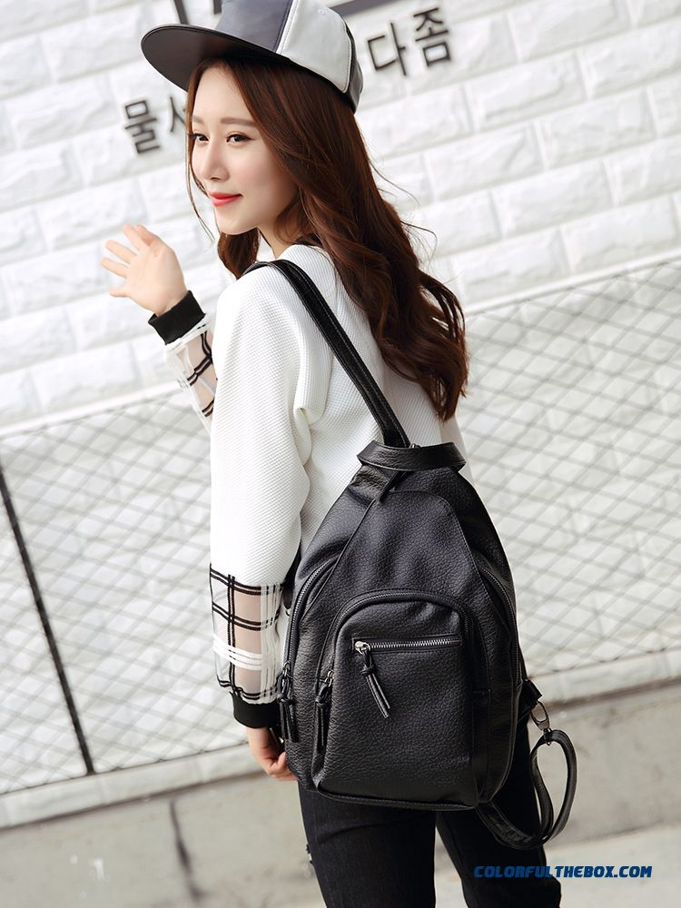 860eea877e2f Fashion Soft Leather Ladies Shoulder Bags Washed Leather High Capacity  Multifunction Dual Purpose Woman Backpack ...