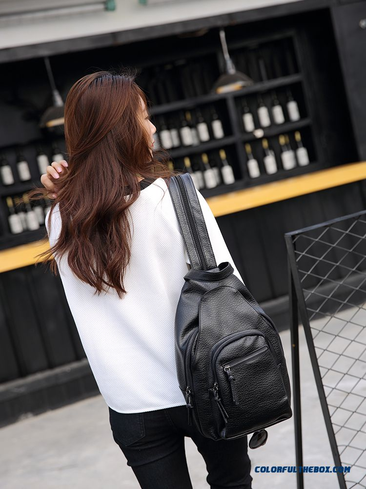 b3273a8f7fc0 ... Fashion Soft Leather Ladies Shoulder Bags Washed Leather High Capacity  Multifunction Dual Purpose Woman Backpack ...