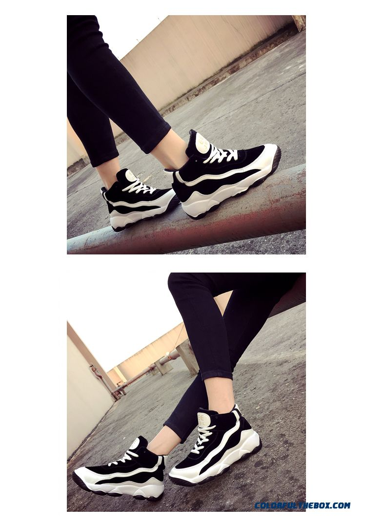 Fashion Thick Bottom Women Running Casual Shoes Free Shipping - detail images