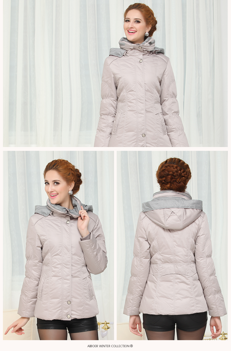 Fashionable Design Winter New Women's Down Jacke Thicken Plus Size Pink Long - detail images
