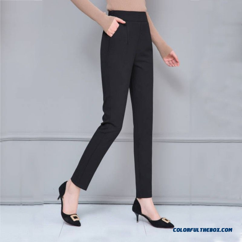 Female Fashion Harem Pants Summer Autumn Elastic Waist Casual Casual Slim Pants Women Pants Work Wear Trousers Harem Pants - detail images