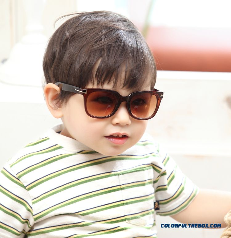 Free Shipping Accessories Boys And Girls Sunglasses Uv Large Framed Glasses Korean Baby Kids