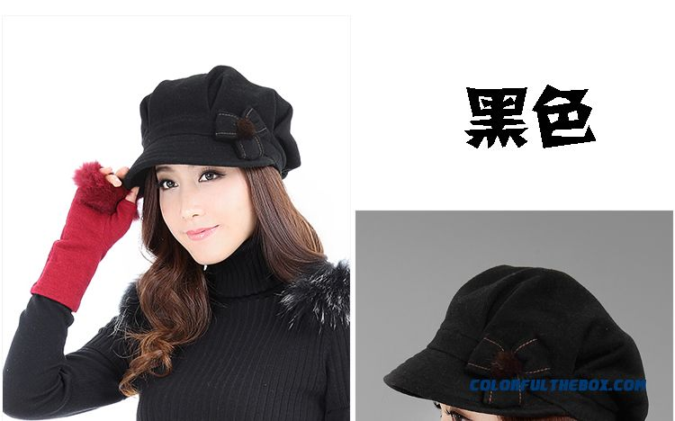 Cheap Free Shipping Black Grey Stylish Winter Hat Warm