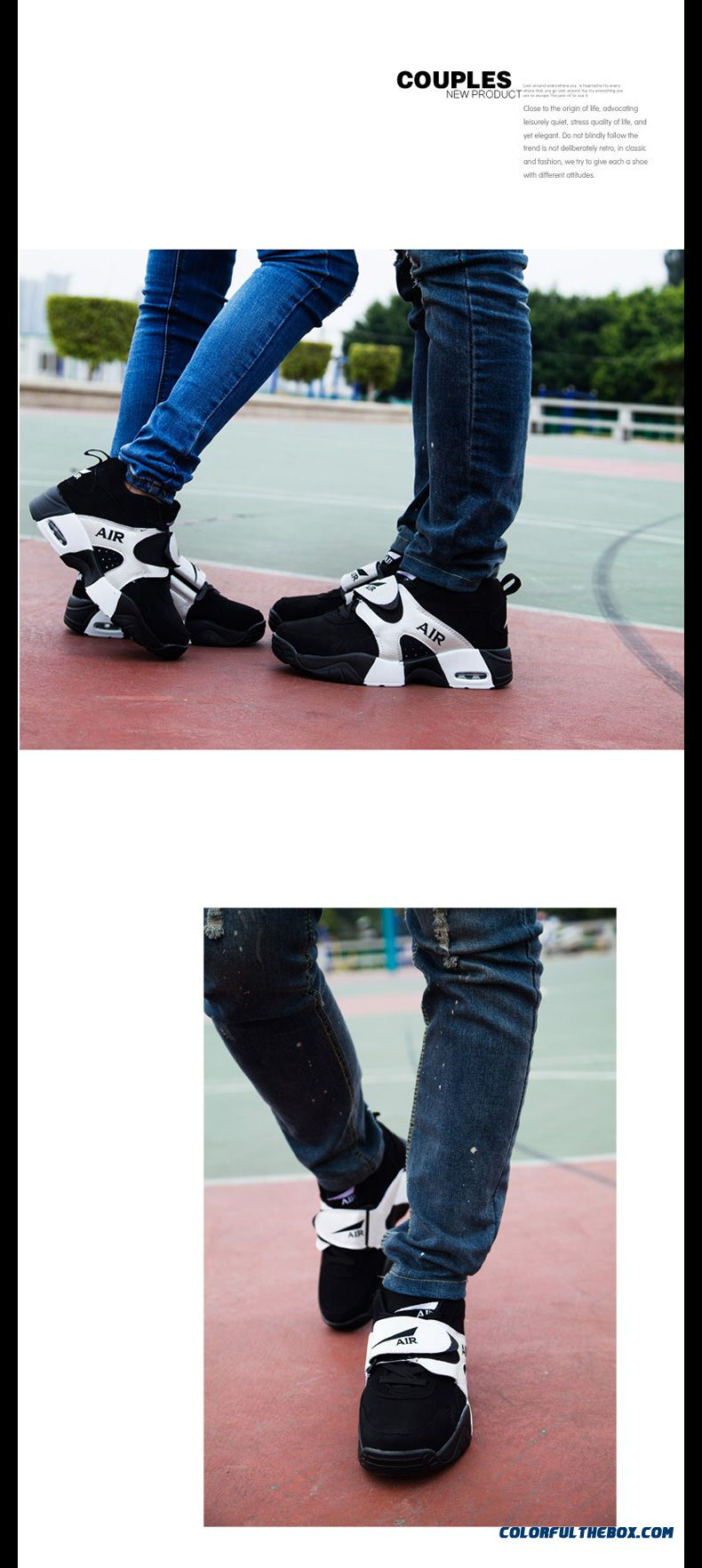 Free Shipping Korean Version Of The Thick Bottom Couple Shoes Men Basketball Shoes - detail images