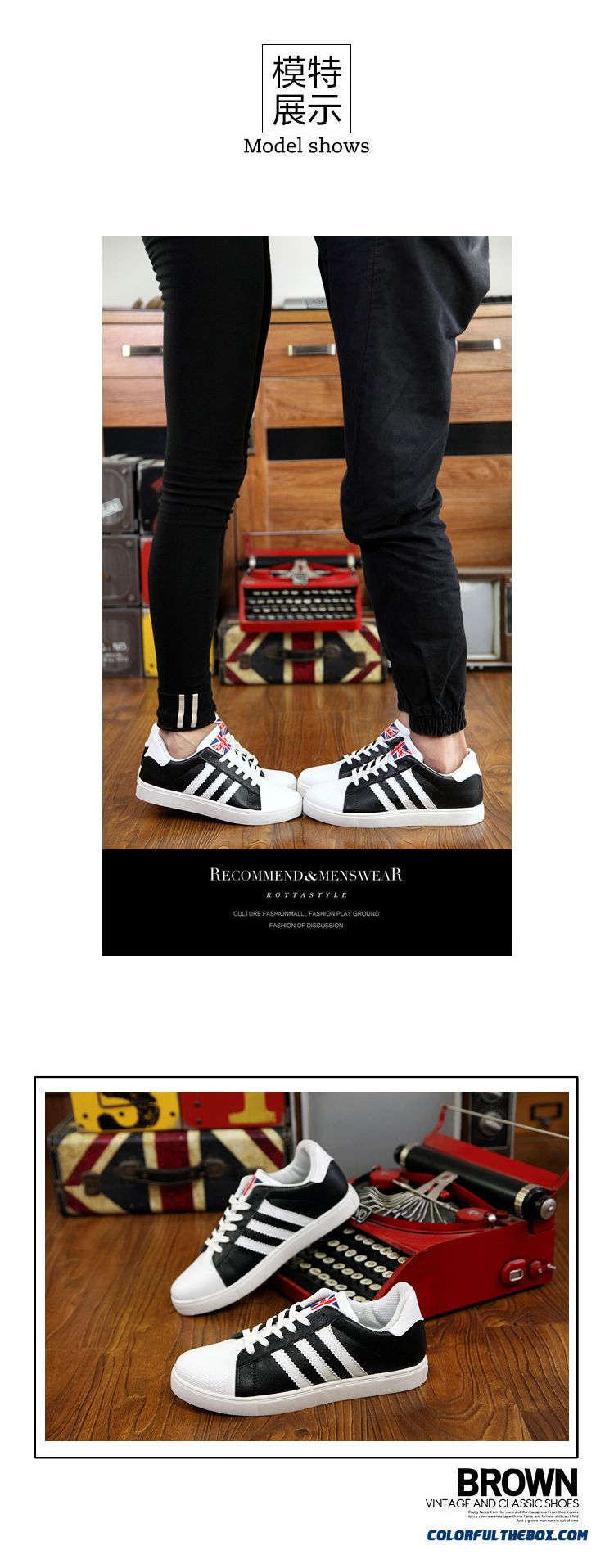 Free Shipping Skateboarding Shoes Men Low Cut Men Shell Head Shoes Flats Shoes - detail images