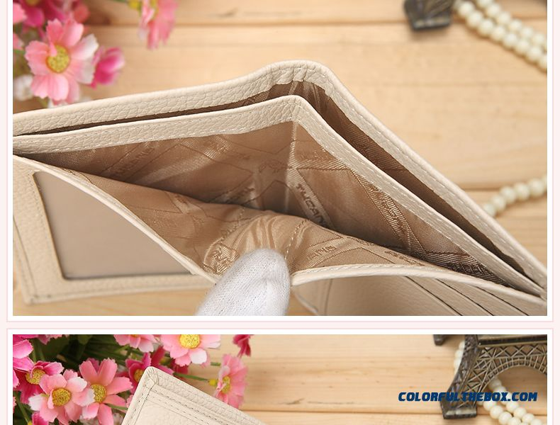 Genuine Special Women Short Purse Leather Wallet Fashion Sweet Bags - detail images