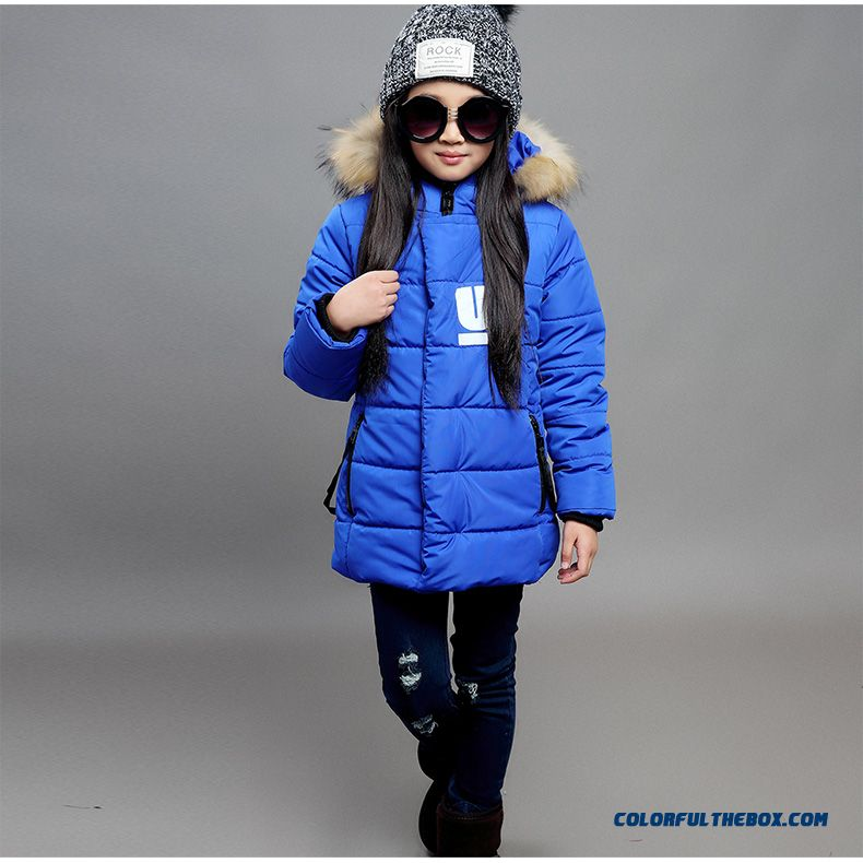 Cheap Girl New Winter Coat Casual Jacket Blue Red Black