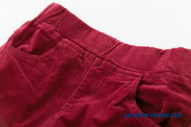 Girls Plus Velvet Corduroy Pants Baby Cotton Pants Straight Thickened Kids Long Pants - detail images