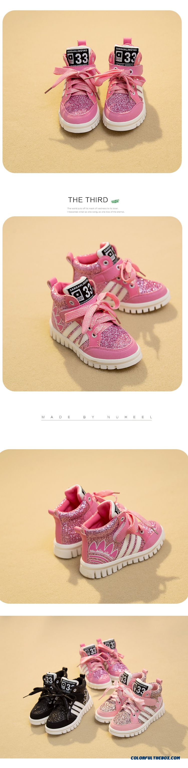 Girls Running Shoes Casual Shoes Sequined Board Sh Girls Running Shoes Casual Shoes Sequined Board Shoes Pink For Kidsoes Pink - detail images