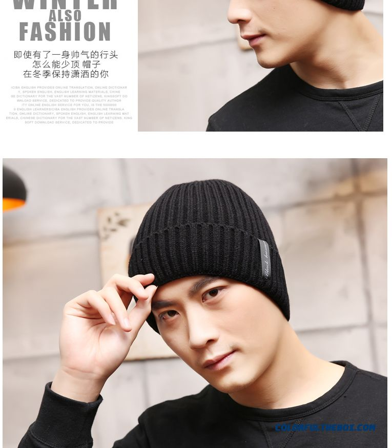 ... High Quality Fashionable Winter Hats For Men Knitted Hat Students   Winter  Hat Accessories - detail ... 53c9920b09ca