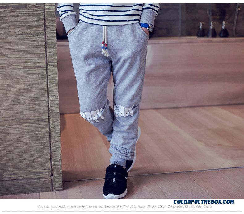 Kids Clothing Autumn New Boy Sweatpants Wholesale Low Price High Quality Boys Long Pants - detail images