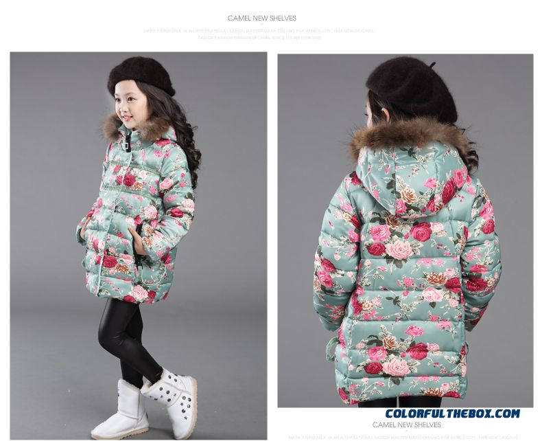 e7e111a08 Cheap Kids Clothing Girls Thick Winter Coat Jacket Korean Version Of ...