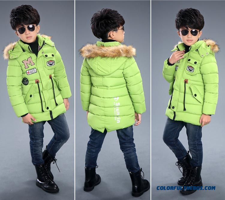 Kids Winter Essential Coats M Thick Coat Boy Cotton - Padded Clothes Children's Clothing - detail images