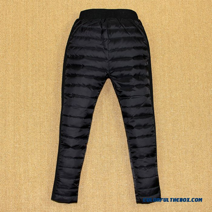 Korean Style Children Kids Keep Warm Down Pants Girls Wears Outside Pants - detail images