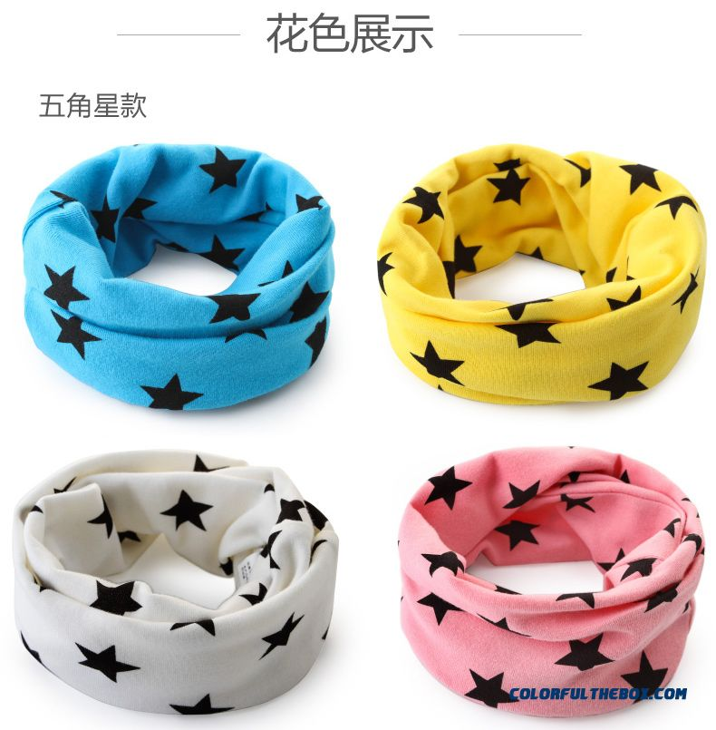 Korean Version Of Double Thick Kids Scarves Boys Girl Autumn Cotton Material Accessories - detail images