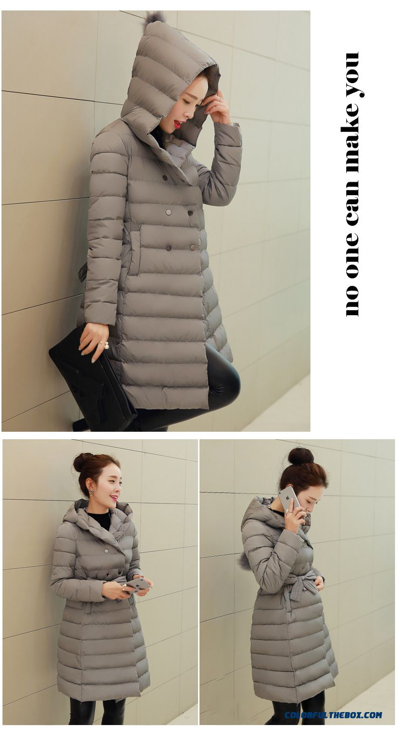 Cheap Ladies Padded Coat Girls Long Korean Slim Hooded Cotton ...