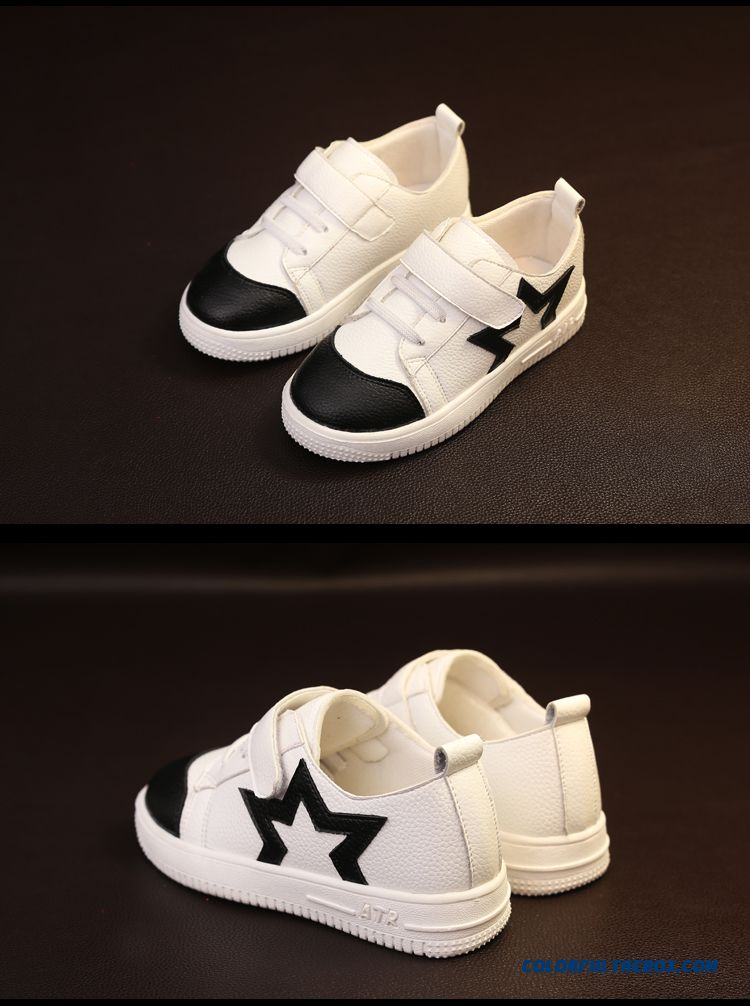 Leather Running Shoes Korean Casual Five-pointed Star Children's Shoes For Girls - detail images