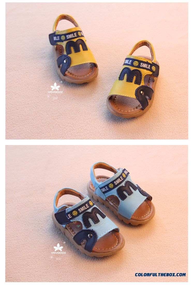 Leather Soft Outsole Baby Boys Open Toe Leather Kids Child Sandals - detail images
