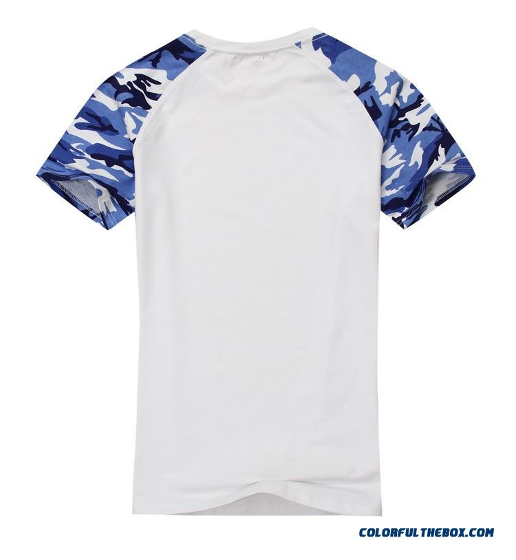 Man Casual Camouflage T-shirt Men Cotton Army Tactical Combat T Shirt Military Sport Camo Camp Mens T Shirts Fashion 2016 Tees - detail images