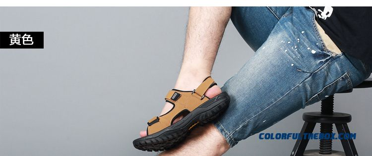 Men's Beach Shoes Summer Sandals New Large Size Outdoor Sports - detail images