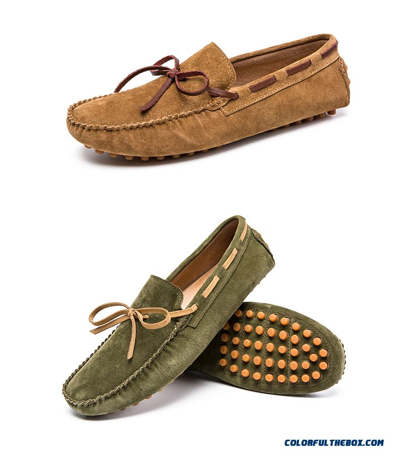 Mens Casual Shoes British Style Moccasins Genuine Leather Flats Zapatos Hombre Loafers Footwear Men Winter/&Sping