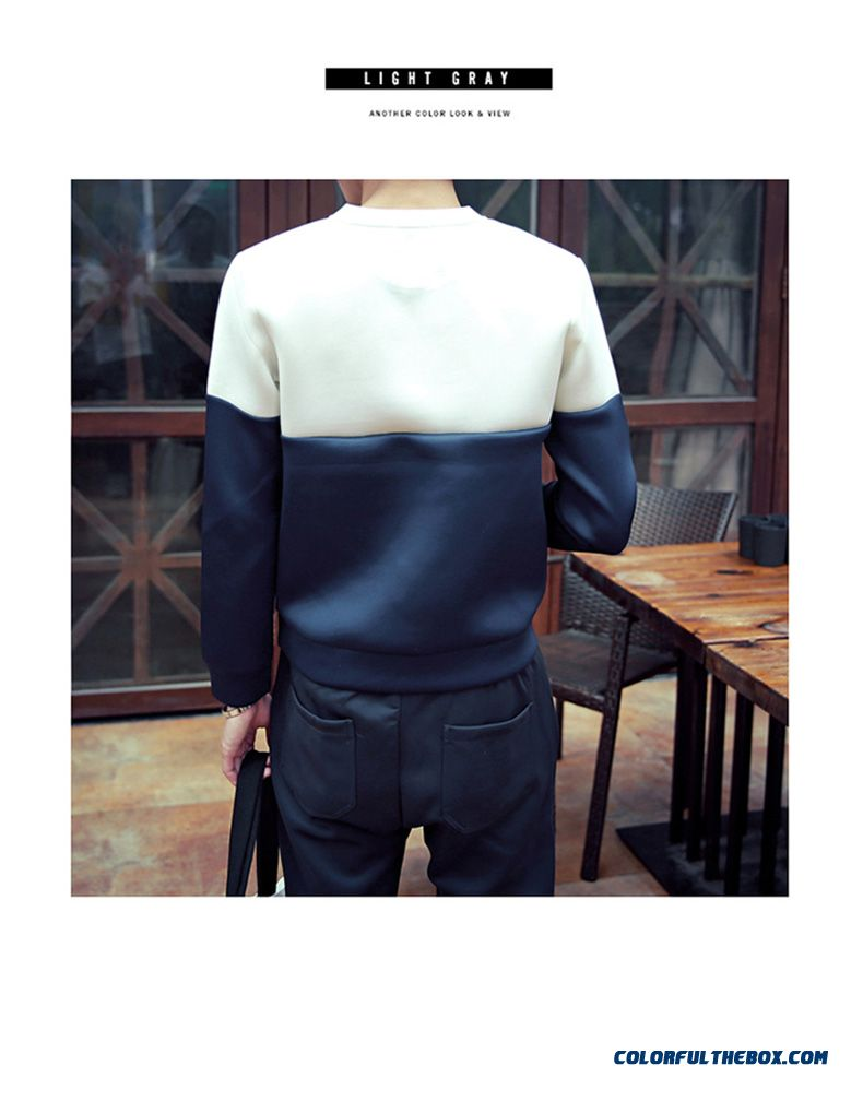 Men's Clothing Baseball Uniform Printing Pullover Round Neck Sweatshirts - detail images