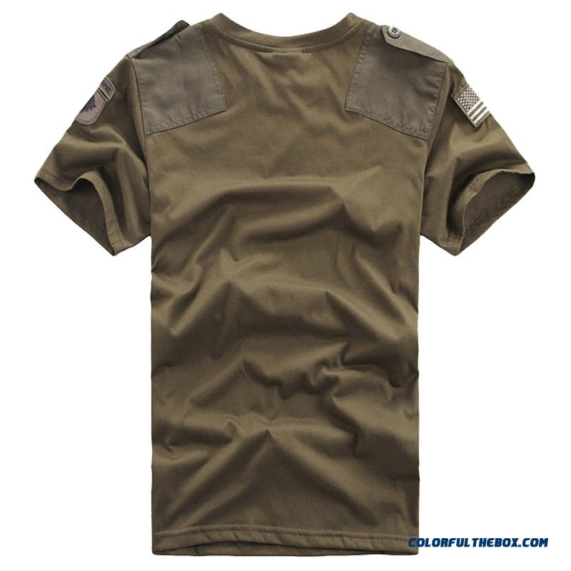 Mens T Shirts Men Casual Confederate Us Army 101st Airborne Division 100% Cotton T-shirt Military Tactical Comfort Tshirt Tees - detail images