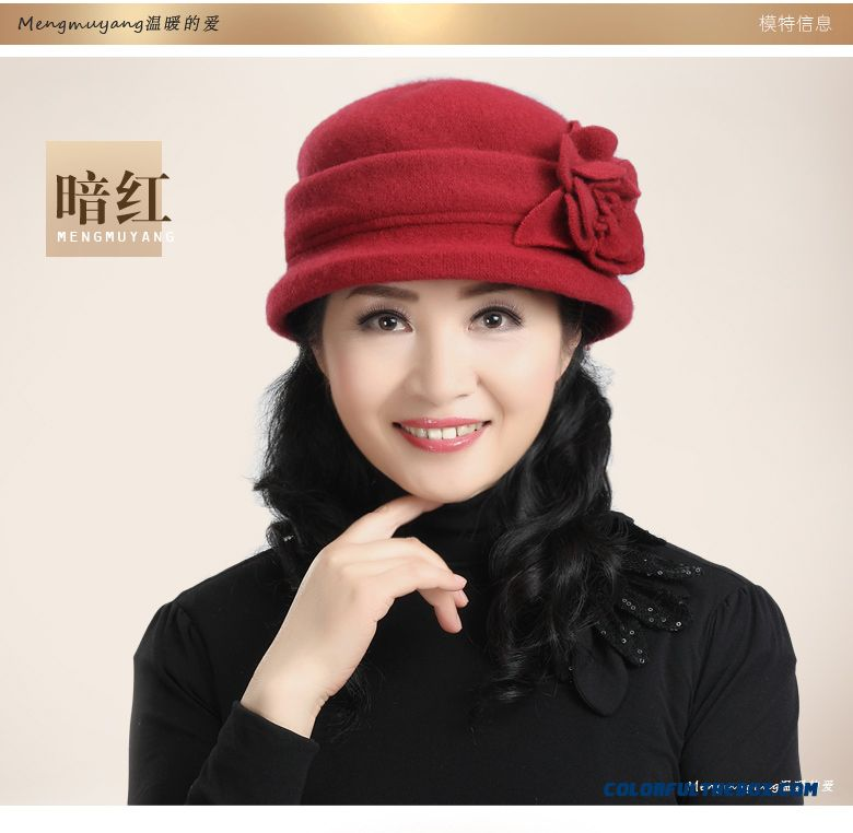 715195b2a589 Middle-aged Ladies Hat Wool Hat Grandma Mom Cap Designed Specifically For  The Elderly ...