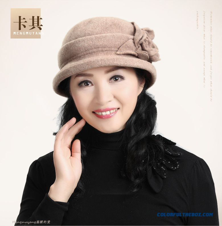 6687f17c ... Middle-aged Ladies Hat Wool Hat Grandma Mom Cap Designed Specifically  For The Elderly ...