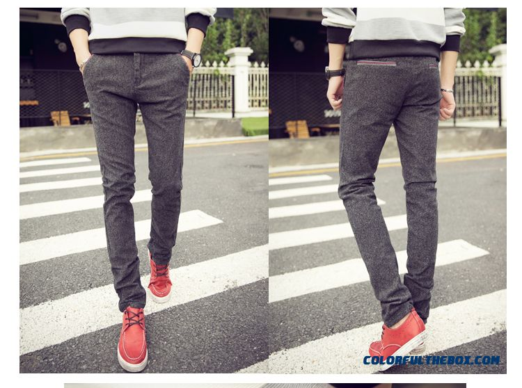 New Autumn And Winter Fashion Linen Straight Slim Casual Men Pants Special Offer Free Shipping - detail images