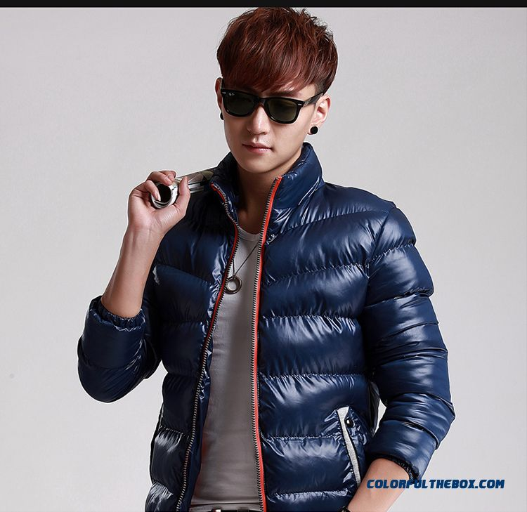 New Autumn Winter Hot Selling Tide Thicken Blue Red Black Large Size Coats Young - detail images