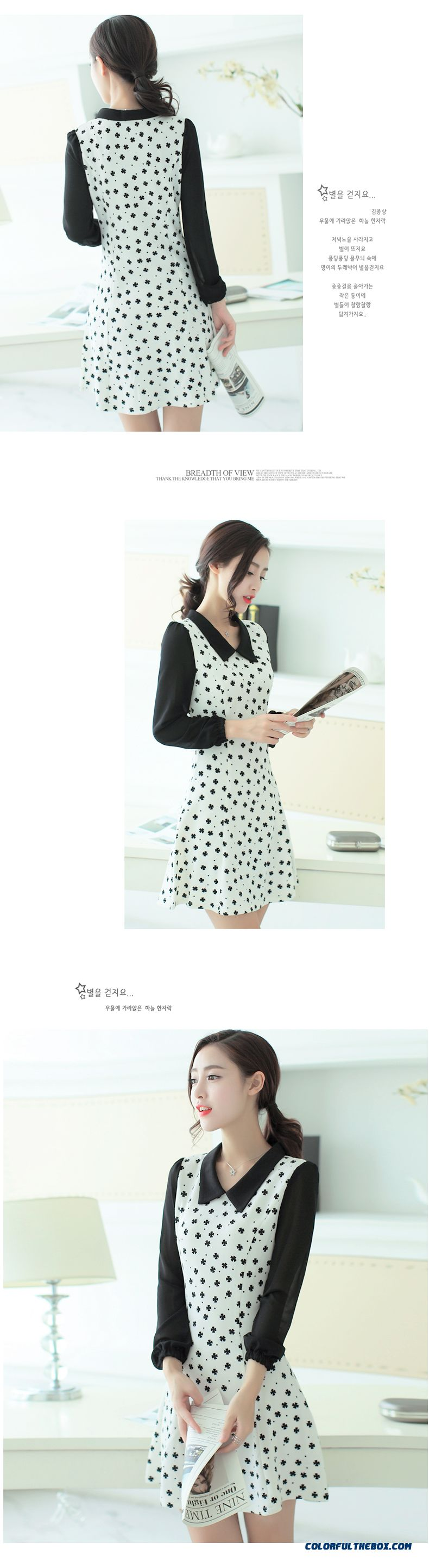 New Autumn Women Dress Long Sleeve Sweet Slim Popular In Europe And America - detail images