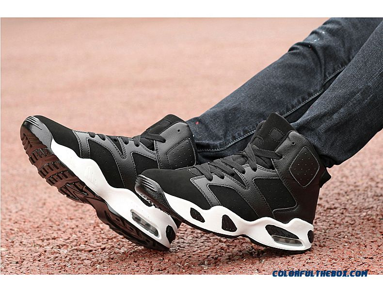 New Black And White Classic Fashion Basketball Shoes Air Cushion Couples Shoes - detail images