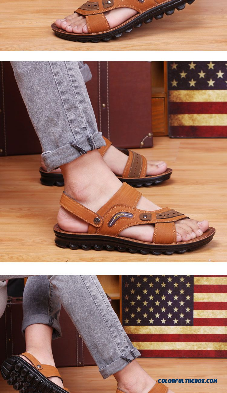 Cheap New England Style Breathable Leather Sandals Men 39 S