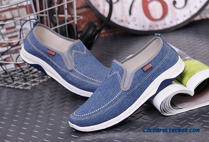New Fashion Men Casual Shoes Spring Summer New Men Peking Shoes Comfortable Slip-on Canvas Shoes Man On Sale - detail images