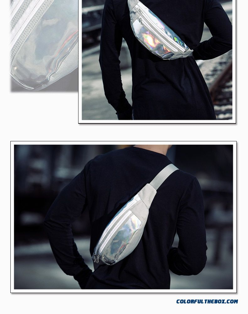 New Fashion Of Tide Men's Chest Bag Purse Cool Waist Packs Free Shipping - detail images