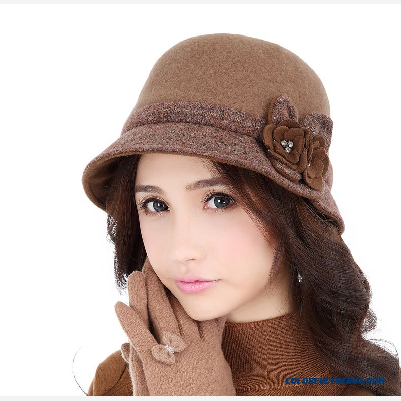 Cheap New Fashion Wool Top Hat Elegant Ladies Hat