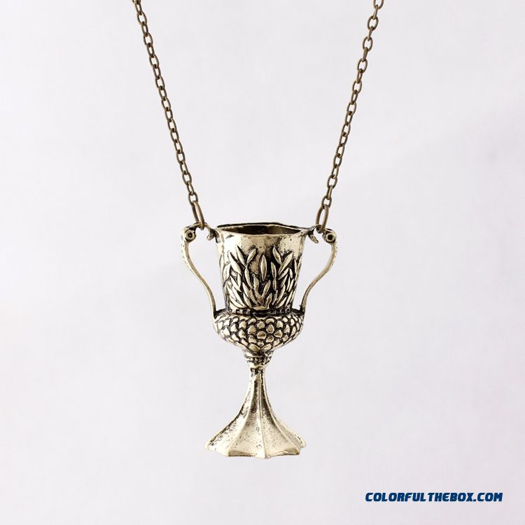 New Harry Potter Necklace Hufflepuff Cup Pendant Special Design For Women - detail images