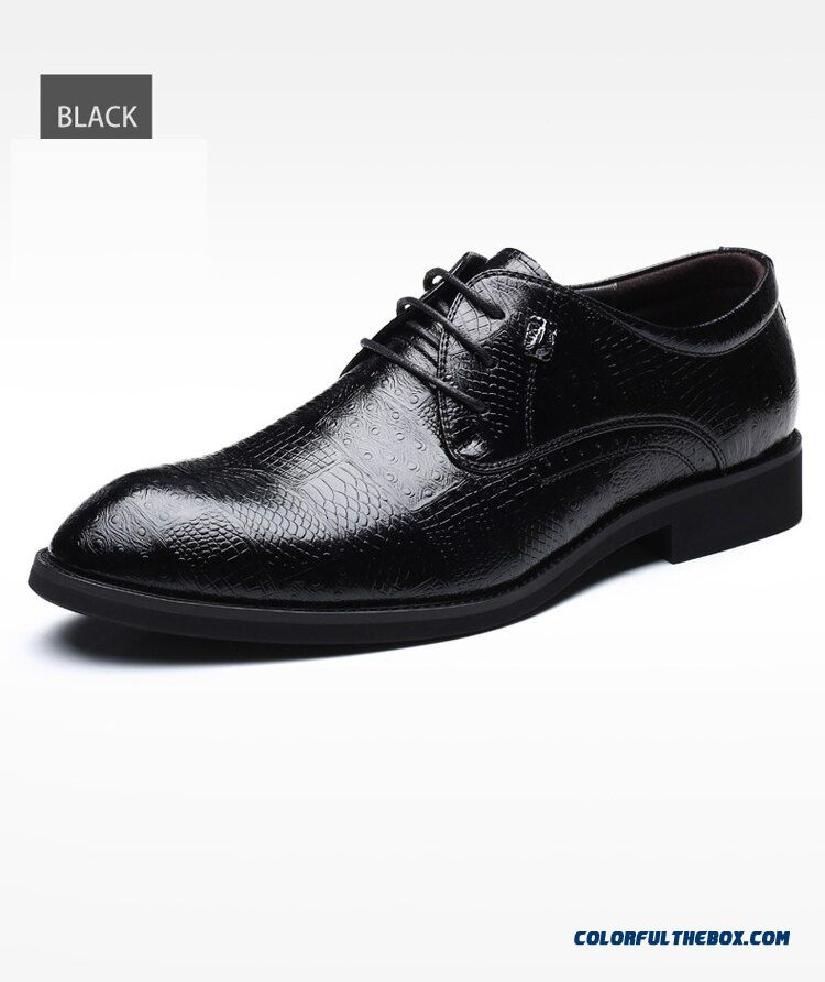 New Quality Microfiber Leather Men's Shoes Spring Soft Man Dress Shoes Extra Size 45 46 47 48 Point Toe Man Leather Shoes M527 - detail images