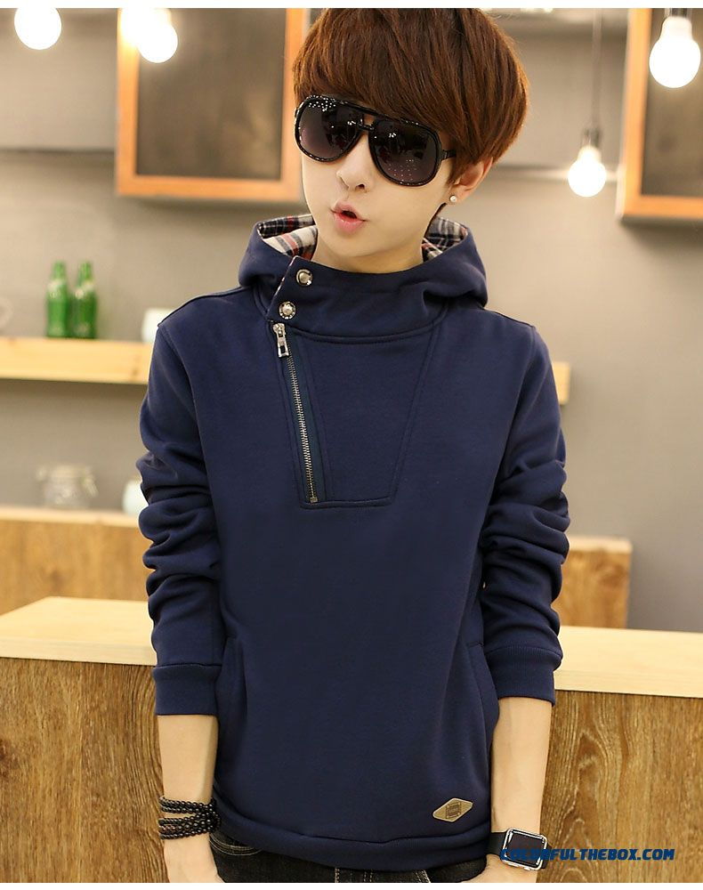 New Spring And Autumn Pullover Sweatshirts Thin Cotton Men Hoodie - detail images