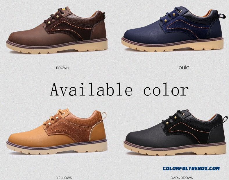 New Winter Oxford Work Tooling Chaussure Homme Men Shoes High Quality Leather Shoe Fashion Casual Mens Shoes - detail images
