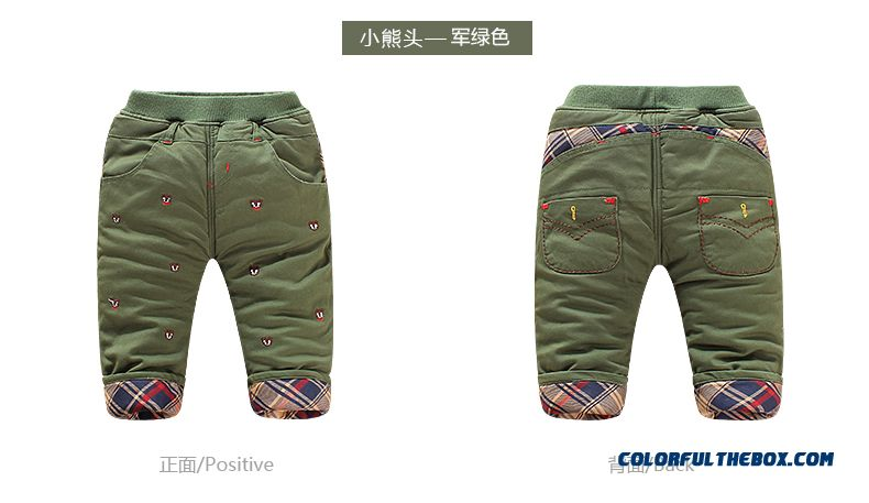 Newest Designe Keep Warm Kids Long Pants Thicker 0-1-2-3 Years Old Boys Clothing - detail images