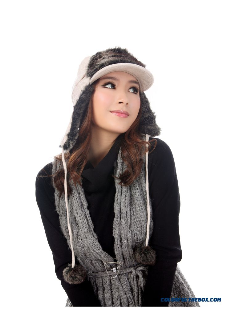 Northeast China Snow Season Ear Protection Lei Feng Cap Winter Women Ski Cap - detail images